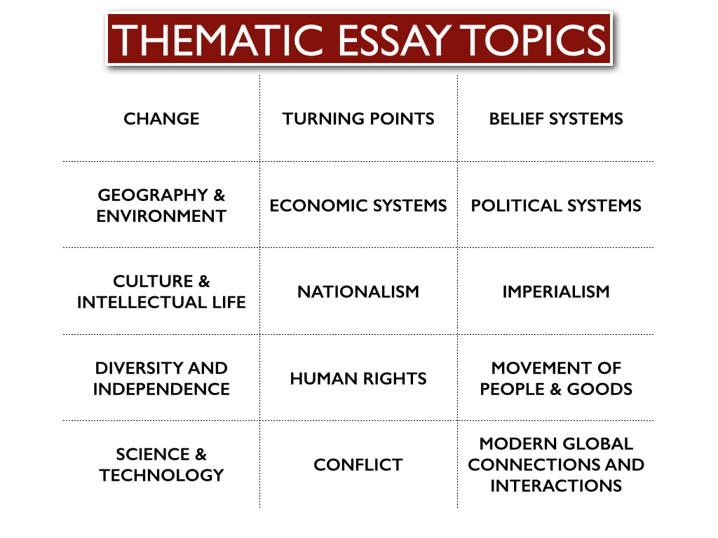 thematic essay topics okl mindsprout co thematic essay topics